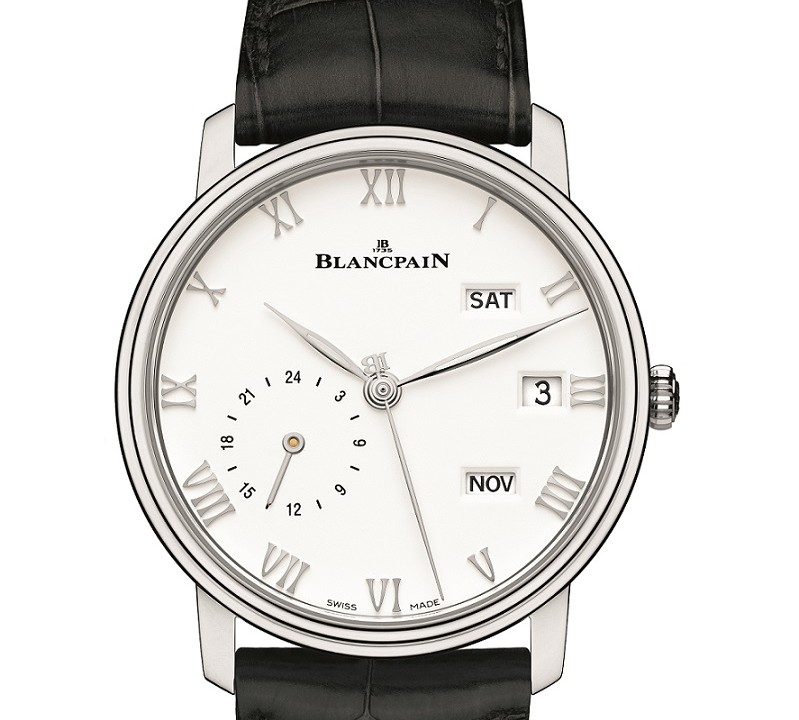 White Dial Blancpain Villeret Quantième Annuel GMT Replica Watch