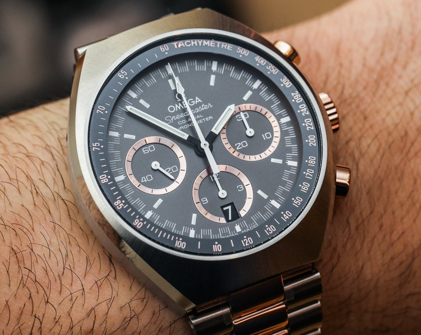 Omega Speedmaster Mark II Two-Tone Sedna Gold Watch Hands-On Hands-On