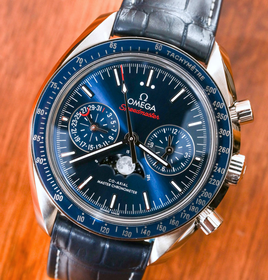 Omega Speedmaster Moonwatch Co-Axial Master Chronometer Moonphase Chronograph Watch Review Wrist Time Reviews