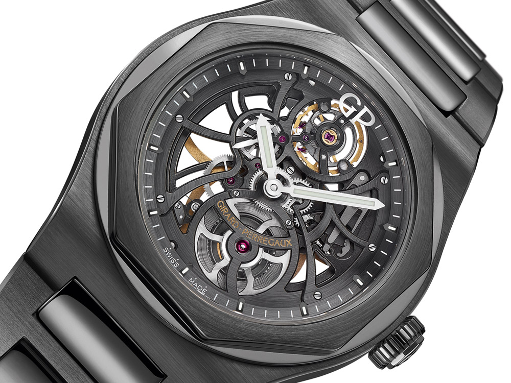 Girard-Perregaux Laureato Skeleton Ceramic Watch Watch Releases