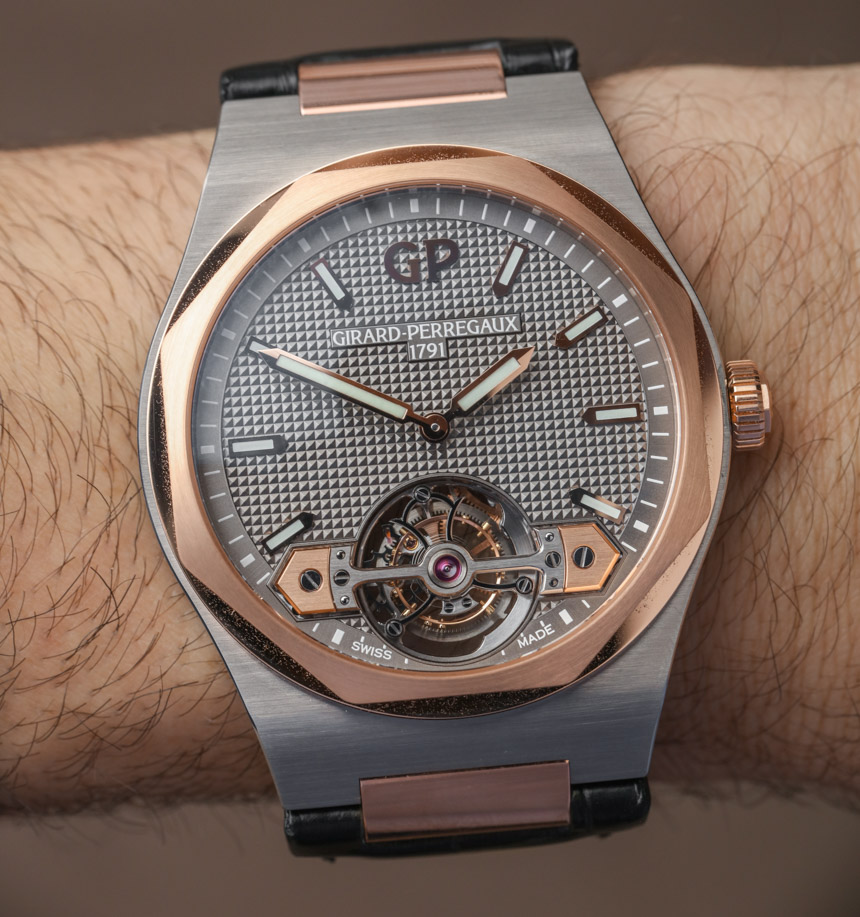 Girard-Perregaux Laureato Tourbillon Watch Hands-On Hands-On