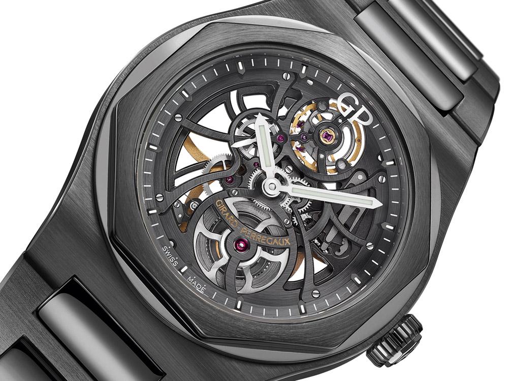 Girard-Perregaux Laureato Skeleton Ceramic Watch Watch Releases